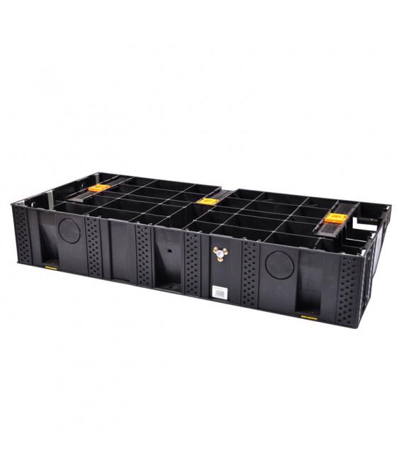 Module de marche Modulesca noire escalier PVC 935x425x170