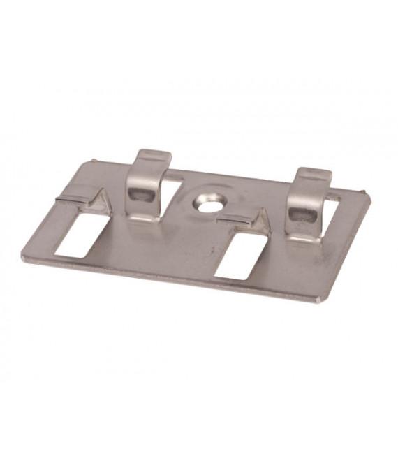 Clip d'aboutage + vis inox pour terrasse SILVADEC 37x64x11mm – Sachet = 10 pièces