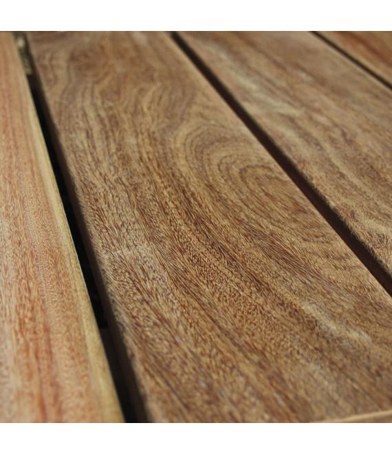 Lame de terrasse Bois Exotique Cumaru lisse 21x145mm - Lg = 2.45m à 5.75m