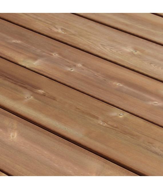 Lame de terrasse lisse pin CL4 choix US marron