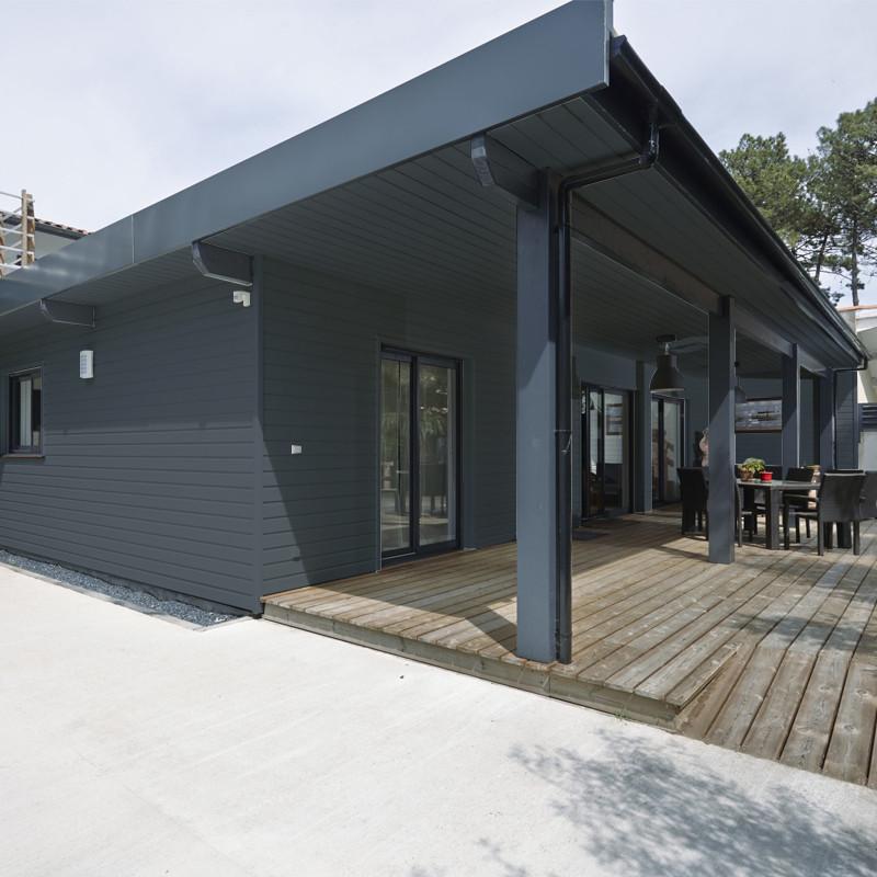 maison bardage gris anthracite ventana blog. Black Bedroom Furniture Sets. Home Design Ideas