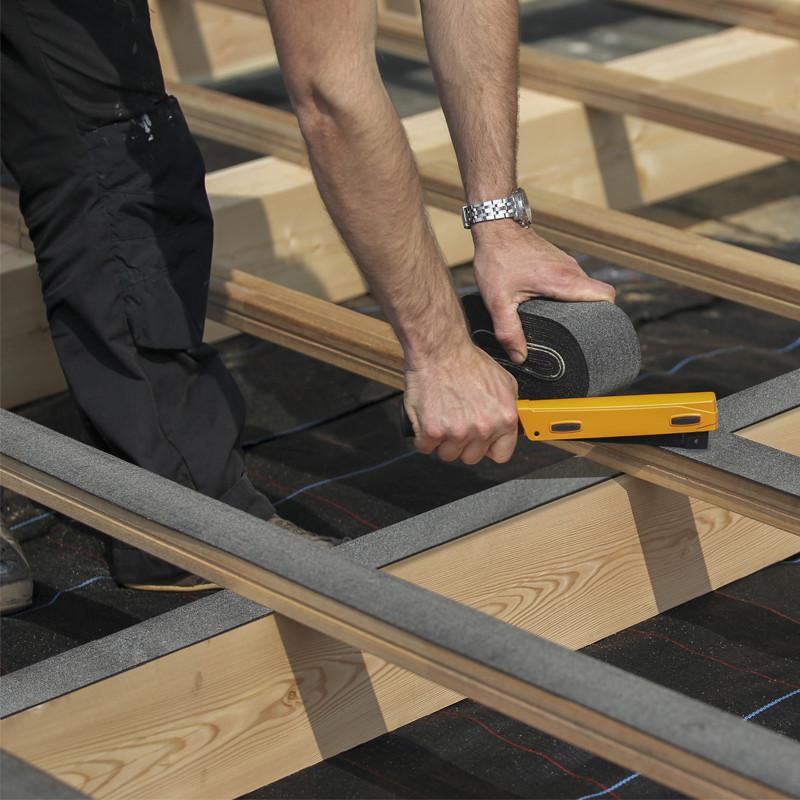 novlek bande bitumeuse pour lambourdage 80mm 16ml pour environ 5m de terrasse rullier bois. Black Bedroom Furniture Sets. Home Design Ideas