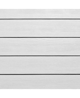 Bardage HardiePlank CEDAR Blanc Arctique - 3.60mx0.180m – Ep = 8mm