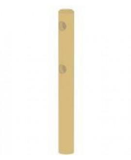 Poteau d'extrémité rond 2 lisses Pin traité classe 4 – Diam = 140mm