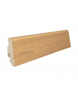 Plinthe à emboiter bois massif plaqué Chêne verni-mat - Dim = 19x58x2200mm