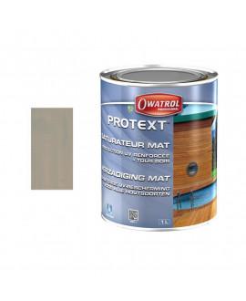PROTEXT Gris vieux bois – Saturateur mat – Seau de 5L