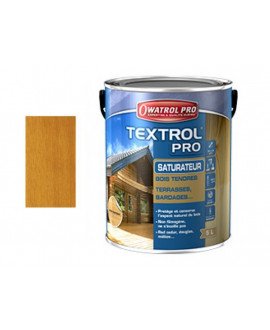 TEXTROL PRO Chêne doré – Saturateur bois tendres – Seau de 1L