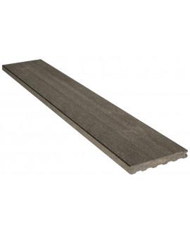 Planche de finition lisse gris anthracite 23x180mm - Lg = 4.00m