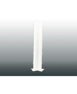 MEP Angle intérieur 90Ḟ bandeau 20 cm + 9 cm PVC blanc HAI2990