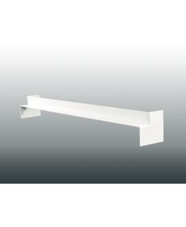 MEP Angle intérieur 90Ḟ double RIVECEL 9 PVC H.50 cm blanc RAI5