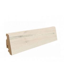 Plinthe à emboiter MDF décor chêne blanc - Dim = 19x58x2200mm