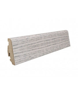 Plinthe à emboiter MDF décor chêne alpin gris - Dim = 19x58x2200mm