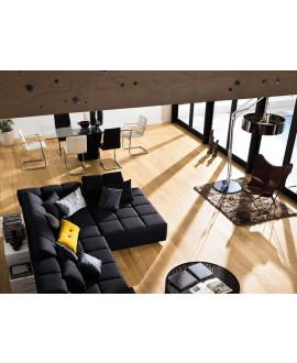 Parquet contrecollé HARO 4000 planche large à l'ancienne 2V Chêne Markant brossé permaDur - Réf 524577 - Colis 3,17m2