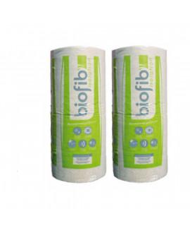 Isolant thermique Biofib'chanvre rouleaux fibres naturelles de chanvres R=2.50 3400x600x100mm - Colis de 2 rlx soit 4.08 M2