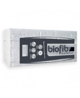 Biofib ouate isolant thermique et acoustique R=2.50 panneau 1250x600x100mm - Colis de 4.50 M2