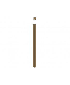 Clôture MILANO poteau 1 rainure – Ep = 90mm x Larg. 90mm x Long. 1.50m