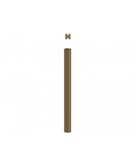 Clôture MILANO poteau 2 rainures – Ep = 90mm x Larg. 90mm x Long. 1.50m