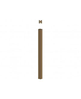 Clôture MILANO poteau 2 rainures – Ep = 90mm x Larg. 90mm x Long. 2.50m