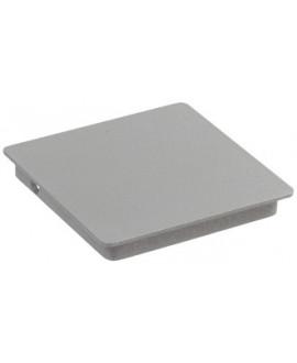 Chapeau Gris givré galvanisé carré plat pour poteau 106x106mm – Ep = 14mm