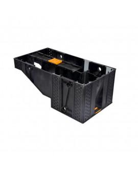 Marche Modulesca noire escalier PVC 200mm x 425mm – Ep = 170mm