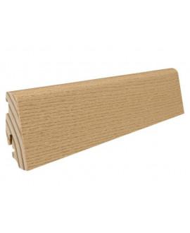 Plinthe à emboiter bois massif plaqué Chêne invisible huilé - Dim = 19x58x2200mm