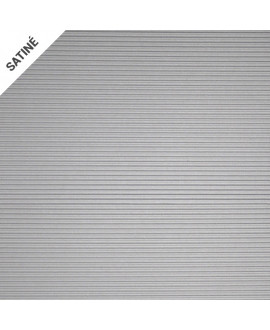 Stratifié HUBLER métal HOMAPAL D 422 Alu Long Line teinté inox 2440x1220mm – Ep = 1 mm