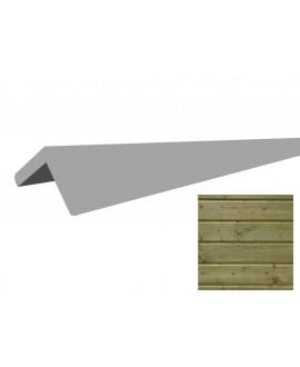 Baguette d'angle sapin CL3 vert 60x60 en 3M00 - 5 Lgs/Pqt