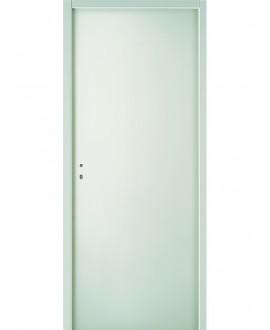 Bloc-porte postformé climat B prépeint confort (3 panneaux) profil à recouvrement serrure 3 points