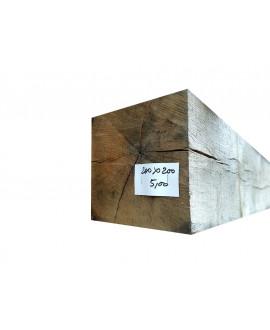 Bois de charpente chêne ressuyé 200x200mm