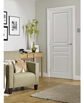 Bloc-porte postformé âme alvéolaire prépeint confort (3 panneaux) profil rive droite joint confort intégré