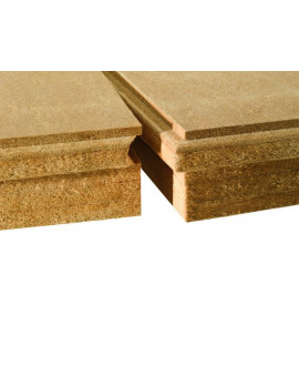 Isolair - Panneau fibre de bois rigide rainé bouveté, isolant et pare-pluie - R = 1.80 - Ép 80 mm 580 mm x 1.8 m