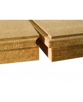 Isolair - Panneau fibre de bois rigide rainé bouveté, isolant et pare-pluie 580 mm x 1.8 m