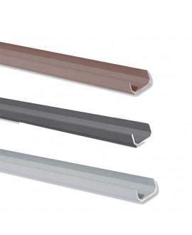 Lisse basse SILVADEC aluminium 23x14x1730mm finition lisse