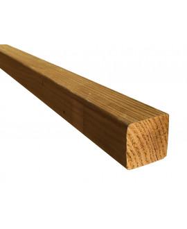 Liteau pin traité classe 4, raboté 4 faces, arêtes arrondies 46x46mm – Lg = 3.00m à 4.00m