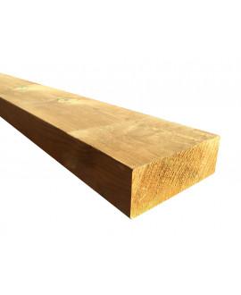 Madrier pin traité classe 4, raboté 4 faces, arêtes arrondies 46x145mm – Lg = 3.00m à 5.50m