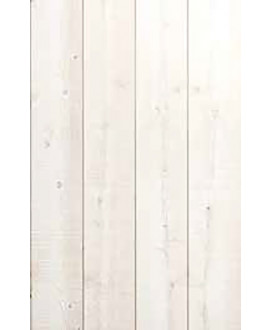 Lambris Sapin du nord élégie carrée rainure décalée brut de sciage Originel blanchi - Dim = 12x135x2650mm