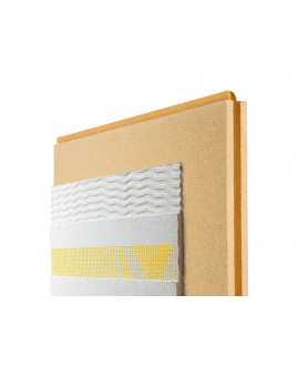Panneaux fibre de bois Pavawall GF Ép = 60mm à 120mm - 580mm x 1.45m - Colis de 0.84 m²