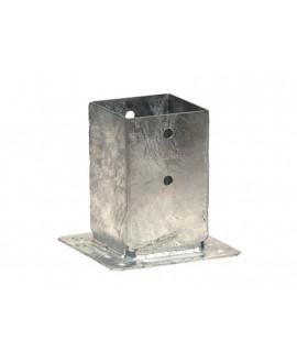 Pied de poteau carré sur platine SIMPSON – Hauteur = 150mm