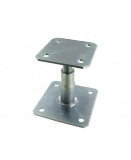 Pied de poteau réglable SIMPSON Hauteur = 100 à 150mm réf APB100/150