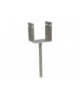 Pied de poteau en U SIMPSON à sceller 70x70mm – Hauteur = 126.5mm réf PPD70/70G