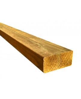 Liteau pin traité classe 4, raboté 4 faces, arêtes arrondies 22x42mm – Lg = 2.50m à 3.00m