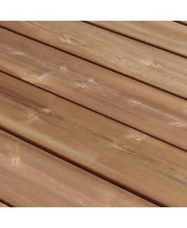 Lame de terrasse lisse pin classe 4 choix US marron 26x145