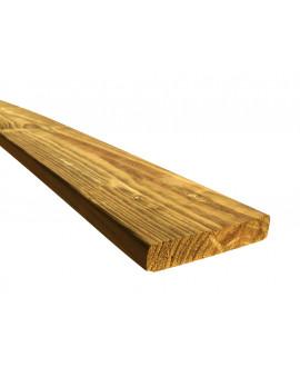 Planche pin traité classe 4, raboté 4 faces, arêtes arrondies 22x145mm – Lg = 2.50m à 3.00m