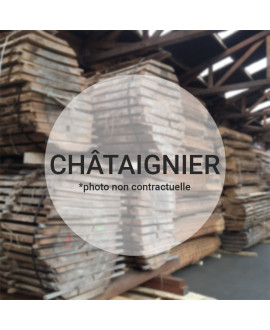PLOT CHATAIGNIER AU DETAIL 80MM EN 2M50