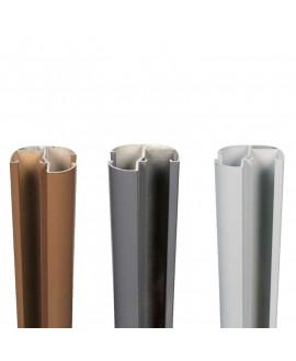 Poteau d'angle SILVADEC aluminium 70x70mm finition lisse
