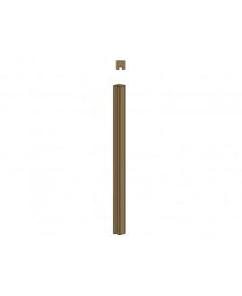 Clôture MILANO poteau 1 rainure – Ep = 90mm X Larg. 90mm