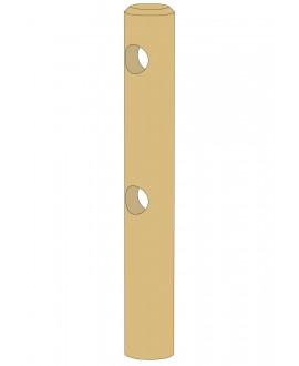 Poteau intermédiaire rond 2 lisses Pin traité classe 4 – Diam = 140mm