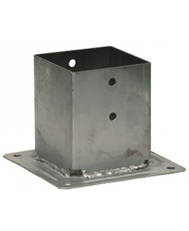 Pied de poteau carré sur platine SIMPSON 91x91mm – Hauteur = 150mm réf PPJBT90