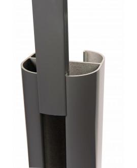Baguette de finition SILVADEC Gris Anthracite 27x9x1815mm finition lisse