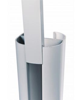 Baguette de finition SILVADEC Gris Métal 27x9x1815mm finition lisse